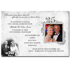 50th Wedding Anniversary Golden Invitation - YOU PRINT - A001