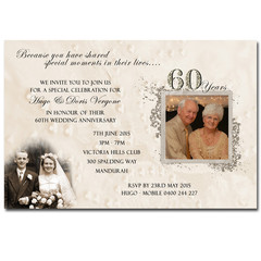 50th Wedding Anniversary Golden Invitation - YOU PRINT - A006