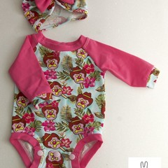 STUNNING BABY GIRLS ONSIE ROMPER TROPICAL BUBBLE 'O BILL