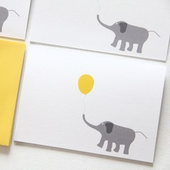 FREE POST | 4 Blank Elephant Note Cards | Birthdays Thank You Thinking of You