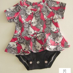 STUNNING BABY ZEBRA  ONSIE WITH SKIRT