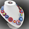 Super Mario necklace.  gamer gift, button jewelry, Super Mario bros
