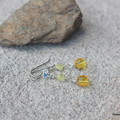 Swarovski yellow crystal, Sterling Silver, dangle earring