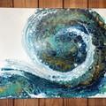 Nautilus Wave - Acrylic Pour Art