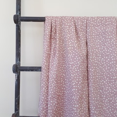Large Muslin Cotton Wrap - Dusty Pink with White Spot