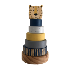 Circus Ring Stacker with Jungle Animal Topper