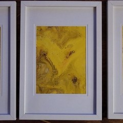 Sun - Acrylic Pour Art