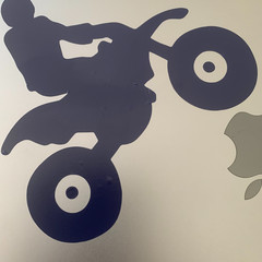 Large permanent graphic decal