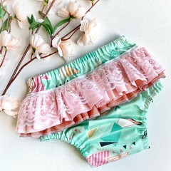 Frilly Nappy Cover - 0 | 12 Months | Ruffles | Diaper Cover | Bloomers | Pants |
