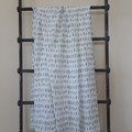 Large Muslin Cotton Wrap - White with Black Dash