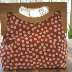 Brown spot handbag