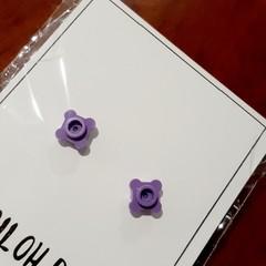 Teeny Flowers Brick Stud Earrings