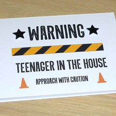 Teenager Birthday card - Warning