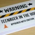 Teenager Birthday card - Warning