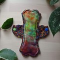 "8"" Moderate exposed core cloth pad (Leak Freak Lips of an Angel)"