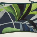 BUSHFIRES palm frond leaves purse with green back and vintage lining
