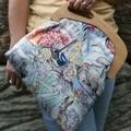 Blue Wren & wattle babies handbag