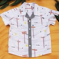 Boy's Button up Shirt - Possum Grey - Size 4
