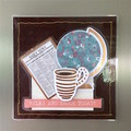 'Relax and Enjoy Today!' Fridge Magnet with Newspaper and Coffee