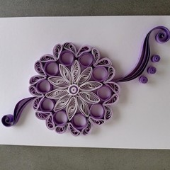 Quilled Card- Birthday