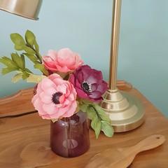 Anemone flower bouquet || crepe paper flowers, paper flowers, home accent, decor