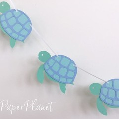 Turtle banner. Under the sea bunting, garland, baby shower, first birthday.