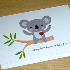 Birthday wishes from Australia - Koala