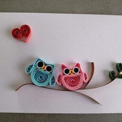Quilled Card- Anniversary