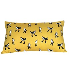 Kids Decorative Pillow. Birds in Boots.