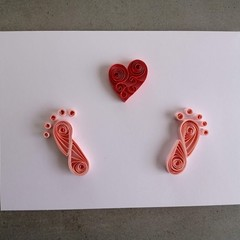 Quilled Card- Baby Girl