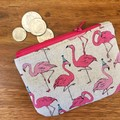 Coin purse - Party Flamingoes