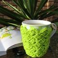 CROCHET PDF PATTERN in AU/UK terms Mug Cozy Coaster Combo + bonus pattern