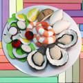 Felt Food Prawns and Oysters
