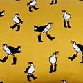 Kids Decorative Pillow. Birds in Boots.