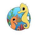 Seahorse Die Cut Sticker