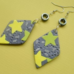 Fat Cat Originals Polymer Clay and Hematite Earrings