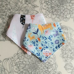 Two Bandana Bibs | Colourful Fabric
