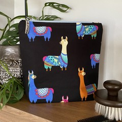 Llama accessory bag - Light blue