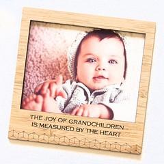 Joy of Grandchildren Grandparent magnetic photo frame bamboo