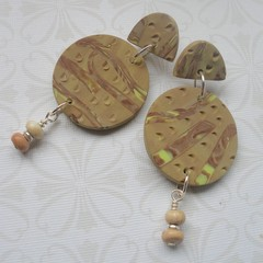 Fat Cat Originals Polymer Clay and Howlite Earrings