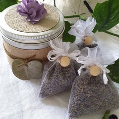 Lavender Sachets in a Tin