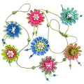 Natural Fibre Flower Hanging Garland Summer Garden Butterfly Wall Decoration