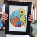 A4 Seahorse Print