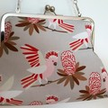 Galahs & proteas clutch with shoulder chain