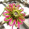 Natural Fibre Flower Hanging Garland Summer Garden Butterfly Wall Decoration