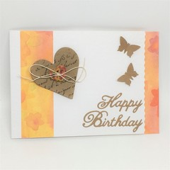 Birthday Card - Heart and Button