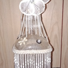 White butterfly bottle light