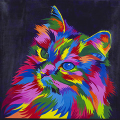 Colourful Abstract Cat