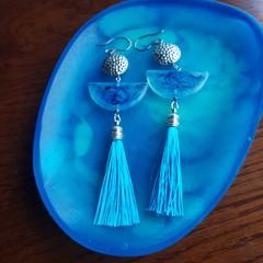 Luna Tassel Resin Earrings