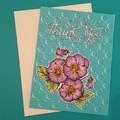 Pansy Thankyou Card